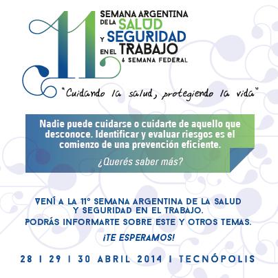 11 Semana Argentina de la Salud y Seguridad en el Trabajo 2014
