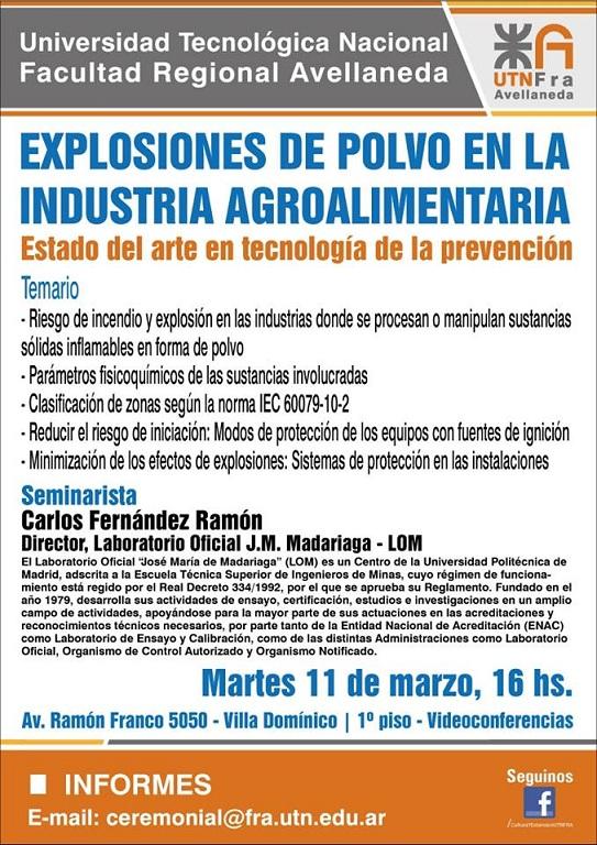 EXPLOSIONES DE POLVO en la Industria AGROALIMENTARIA