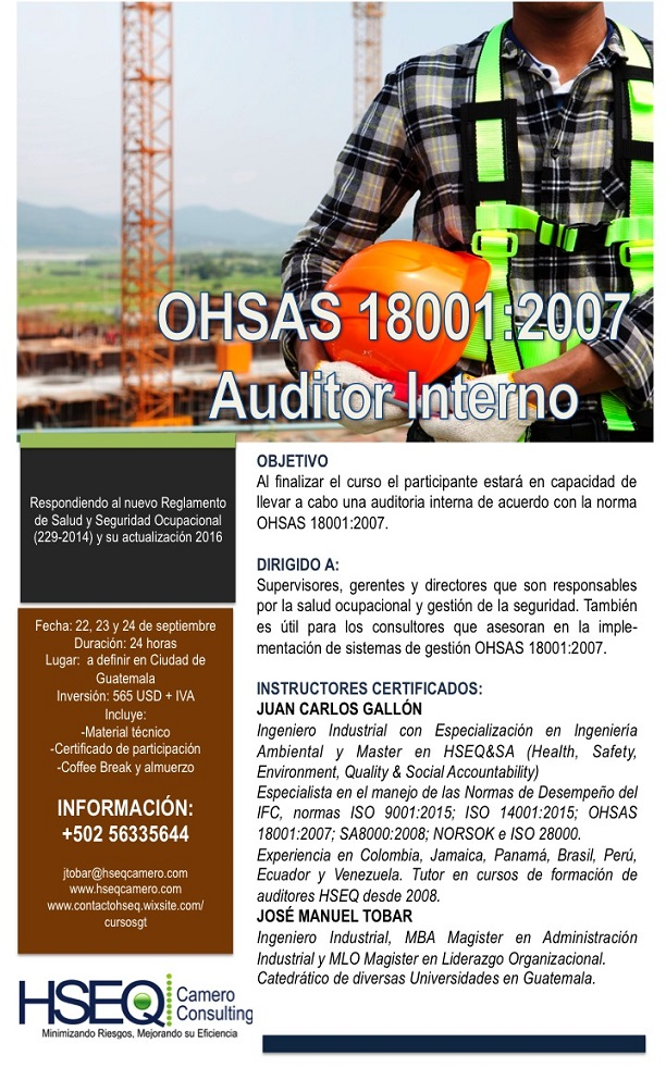 Auditor Interno OHSAS 18001 2007